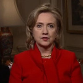Hillary Clinton's video message