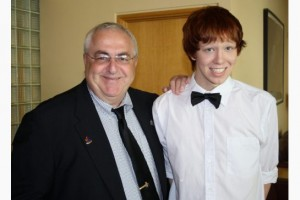COURTESY HUBLEY FAMILY / THE CANADIAN PRESS Ottawa city councillor Allan Hubley poses with his son Jamie in this family photo released on Monday Oct. 17, 2011. Hubley says bullying was part of the reason his 15-year-old son took his own life.