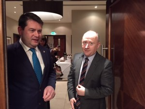 Mr. Dara Murphy, MInister for European affairs and data protection arrives at the conference